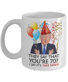 Funny 70th Birthday Trump Gift | Wife Husband Birthday Coffee Mug | Funny 70th Gift for Her Him | Mom Dad Brother Sister 70th Gift | Funny 60th Birthday Gifts, Funny Retirement Gifts, Funny Teacher Gifts, Special Birthday Gifts, 70th Birthday, Funny Gifts, 50th Anniversary Gifts, Anniversary Funny, Gifts For Wife
