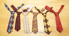 How to make baby/toddler ties!  Plus there's a link at the bottom for how to make clip-on bow ties!