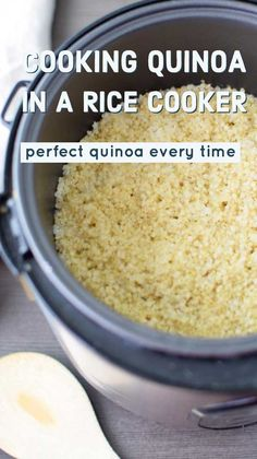 Cook Quinoa in a Rice Cooker - Wendy Polisi If you are looking for easy healthy meals, learn How to Cook Quinoa in a Rice Cooker! via you are looking for easy healthy meals, learn How to Cook Quinoa in a Rice Cooker! Quinoa In Rice Cooker, Rice Cooker Recipes, Quinoa Rice, Rice Cooker Pancake, Quinoa Pasta, Quinoa Salad, Healthy Cooking, Cooking Recipes, Healthy Meals