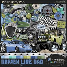 Driven Like Dad ~ Kit By Jumpstart Designs