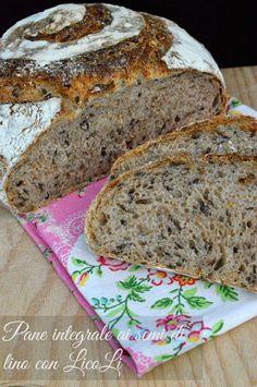 Pane con semi di lino a lievitazione naturale