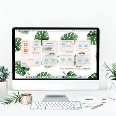 Desktop wallpaper organizer with 2020 2021 calendar ...