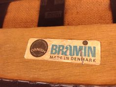 Bramin of Denmark Mcm Furniture, Furniture Design, Furniture Makers, Danish Modern, Mid-century Modern, Modern Design, Scandinavian Furniture, Mid Century Furniture, Makers Mark