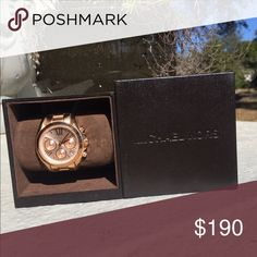 Michael Kors Watch - Ritz Rose Gold Perfect condition,  very gently used, original packaging and owners Manuel included: Michael Kors Jewelry Bracelets