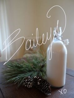 The best homemade Baileys recipe ! Only 4 ingredients. 13 oz Vodka 1 can Eagle Brand Sweetened Condensed Milk 1 pint Table Cream 2 Tbsp Nestle Liquid Chocolate Syrup Throw all those ingredients in a blender. Cocktails, Party Drinks, Cocktail Drinks, Fun Drinks, Yummy Drinks, Alcoholic Drinks, Beverages, Martinis, Homemade Baileys