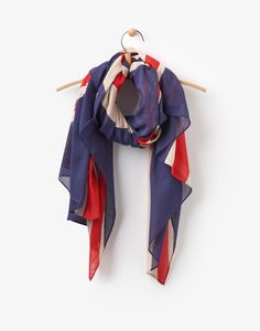 Gloria Union Jack Union Jack Scarf , Size One Size Casual Work Outfits, Work Casual, Queen Birthday, Joules Uk, Union Jack, Silk Scarves, Womens Scarves, Clothes For Women, Work Clothes