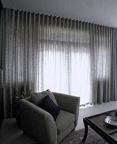 Modern Curtains window treatments ideas - the wave curtain heading Floor To Ceiling Curtains, Wave Curtains, Black Curtains, Curtains Living, Curtains With Blinds, Linen Curtains, Sheer Curtains Bedroom, Wall Of Curtains, Window Treatments Living Room Curtains