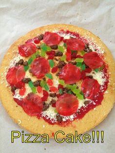 Pizza Cake! Ninja Turtle Party, Ninja Turtles, Mutant Ninja, Teenage Mutant, Easy Bake Oven, Pizza Cake, Pizza Party, Tmnt, Vegetable Pizza