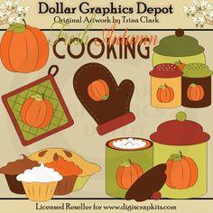 Autumn Kitchen - Clip Art - $1.00 : Dollar Graphics Depot, Quality Graphics ~ Discount Prices