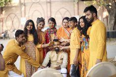 Haldi Ceremony Ideas For Men This Wedding Season Indian Men Fashion, Mens Fashion Blog, Fashion Tips, Haldi Ceremony, Indian Man, Wedding Season, Seasons, Couple Photos, Outfits