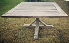 Gorgeous gray and Jacobean finishedn54 inch square dining table. Made with 2x6 pine wood boards and the base is 4x4 cedar posts. 54in x 54 in. Size can be custom Shipping is not included, please message for details. Pick up in the Austin, Tx area.