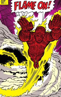The Human Torch by Jack Kirby Marvel Comic Books, Comic Books Art, Book Art, Hawkeye Comic, Jack Kirby Art, Comic Book Collection, Human Torch, Thing 1, Marvel Entertainment
