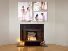 Canvas print of your wedding photo or a favorite guest photo taken with your ourphotoopp.com photo app!