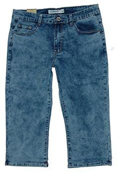 X-Max Damen 3 4 Stretch Capri Jeans Hose outwashed X-905 Gr.42 W33 (   Hersteller 44). Damen Capri Jeans mit geraden Bein und mittlerer Leibhöhe. e8544409b6