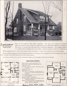 The Lancaster Bungalow - 1922 Craftman-style by Bennett Homes - Ray H. Bennett Lumber Company - Kit Houses