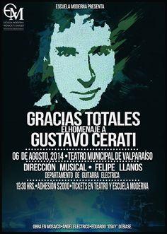 Homenaje a Gustavo Cerati en Teatro Municipal de Valparaíso