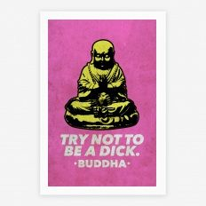 Try Not To Be a Dick Yoga Quotes, Canvas Prints, Art Prints, Canvas Canvas, Quote Canvas, Canvas Ideas, Namaste, Giclee Print, Religion