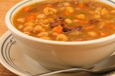Garbanzo and White Bean Soup with Lamb