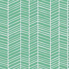 Joel Dewberry - True Colors - Herringbone in Turquoise. Love herringbone.  Love turquoise.