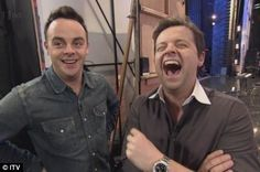 Ant and Dec never stop laughing Declan Donnelly, Ant & Dec, Britain Got Talent, Ants, Comedians, Fangirl, Comedy, My Love, Pj