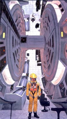 Another McCall, this one is one of his promotional images for Kubrick's 2001: a Space Odyssey.
