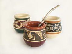Ceramic mate gourds by Arcite. Mates de cerámica Arcite. ~$5