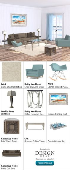 Created with Design Home! Eames, Armchair, House Design, Create, Wood, Table, Couches, Womb Chair, Madeira
