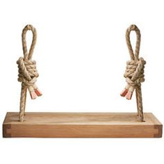Handmade Cedar Wood Rope Swing - can be customized - would love to have one with their initials!