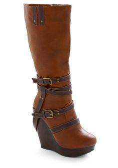 Love Boots! Not practical for hiking, but going out on the town, definitely. Love the criss-cross straps.