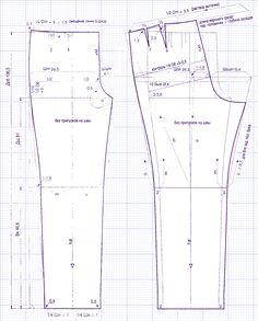 Выкройка мужских брюк. Как сшить брюки?