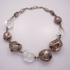 Mexican Silver Rock Crystal And Hand Made Ball Sterling Necklace FOR MORE ON THIS JEWEL PLEASE GO TO:  LOOK AT THAT NECKLACE!