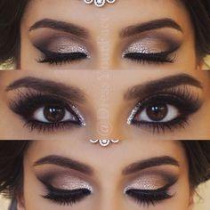 Wedding Makeup for Brunetts | Smokey Makeup | Romantic Smokey Eye #beautymakeupforbrowneyes