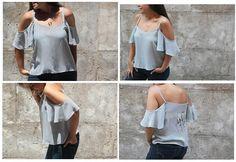 DIY Como hacer una blusa de verano sin hombros - Patrones gratis