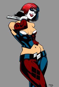 Harley Quinn digital drawing by izryell.