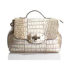 *Exclusive* FP for Fifth Handcrafted Genuine Italian Crocodile Leather... via Polyvore