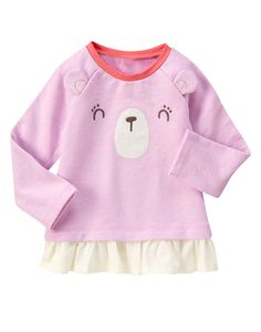 Happy Bear Peplum Top at Gymboree