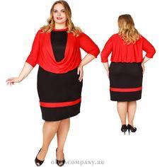 Платье Альфа 001 черно-красное Размеры 52-66 Цена 4200 руб Быстрая доставка, оплата при получении. Производство Россия, Санкт-Петербург