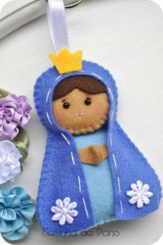Molde de Nossa Senhora Aparecida em E.V.A. para cartão - Pesquisa Google