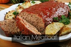 Italian Meatloaf - never had meatloaf before so I had nothing to compare it to, but it turned out yummy.