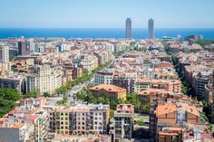 View of Barcelona from inside a spire of La Sagrada Familia