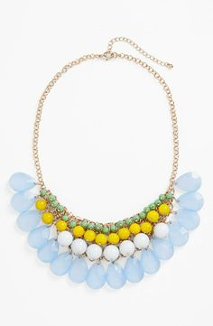 Prom inspiration! Layered statement necklace @Tara Harmon Harmon Stephan wedding??