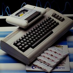 My first computer: Commodore 64. (and yes, I had the slow, slow, slow tape drive--the horror, the horror).