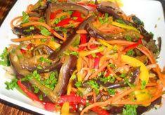 Блюда из баклажанов очень вкусны и полезны. Особенно пользуется большой популярностью салаты из баклажанов по-корейски. Такие баклажаны можно употреблять уже через сутки, а можно закатать на зиму.
