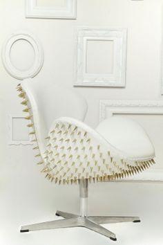 Jacobsen Swan Chair - Studded