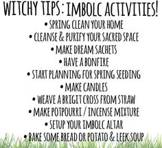 Witchy tips:Imbolc activities Wiccan Sabbats, Wicca Witchcraft, Pagan Witch, Magick, Paganism, Witches, Wiccan Symbols, Imbolc Ritual, Beltane
