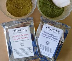 Certified Organic Henna For Hair Powder & Indigo Powder