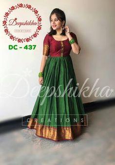 DC Beautiful floor length anarkali dress with pom pom hangings. For queries kindly WhatsApp : 9059683293 Saree Gown, Sari Dress, Frock Dress, Anarkali Dress, Indian Anarkali, Anarkali Suits, Kurta Designs Women, Blouse Designs, Chudidhar Designs