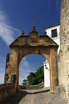 Felipe V Arch in Ronda - Malaga, Spain Beautiful Places To Visit, Cool Places To Visit, Wonderful Places, Places To Travel, Places Around The World, Travel Around The World, Around The Worlds, Bilbao, Ronda Malaga