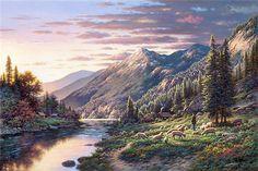 Художник Ларри Дайк (Larry Dyke) прославился благодаря своим картинам