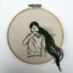 My Monday crush: beautifully embroidered ladies by artist & fashion model Sheena Liam.